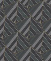 Grandeco Prism Black Geometric A38002 Wallpaper